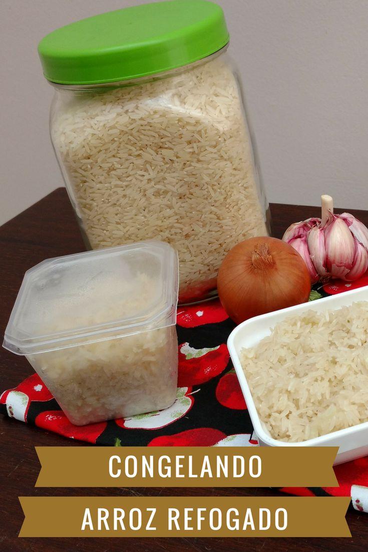 Sabia que dá para congelar arroz refogado e ter sempre arroz fresquinho em menos tempo? Aprenda como fazer.