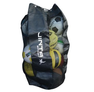 Ball Bag (15 balls). 'Made from a polyester mesh with a draw string. Designed to carry up to 15 balls.' #soccer #football #fairtrade #bag