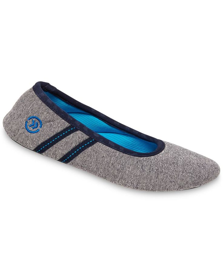 Isotoner Signature Active Heathered Knit Ballerina Slippers with SmartDri