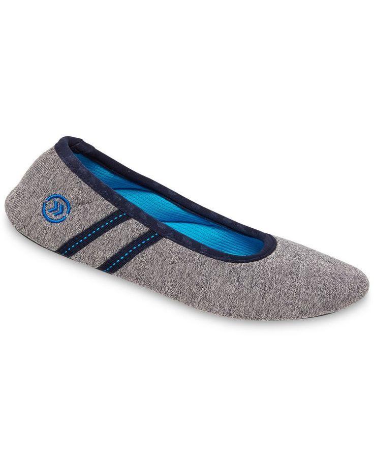 Isotoner Signature Active Heathered Knit Ballerina Slippers with SmartDri