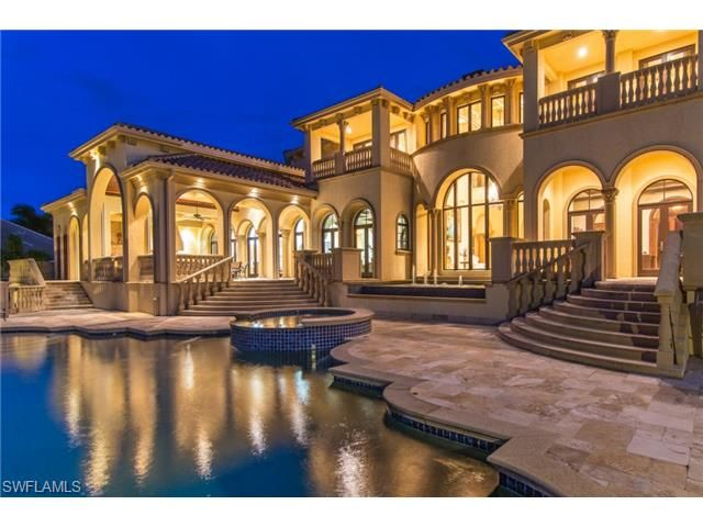 820 Barfield Marco Island Fl 34145 Beach House Who S Up For A Night Swim Mansions And Castles In 2018 Pinterest