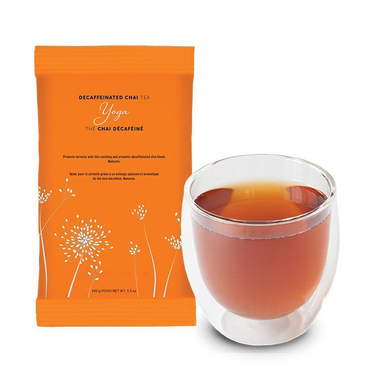 Yoga Decaffeinated Chai Tea and refill bag