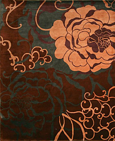 Whether formal or funky, floral and floral inspired rugs can work.