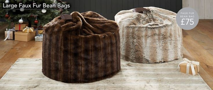Sumptuous beanbags for a night in by the fire