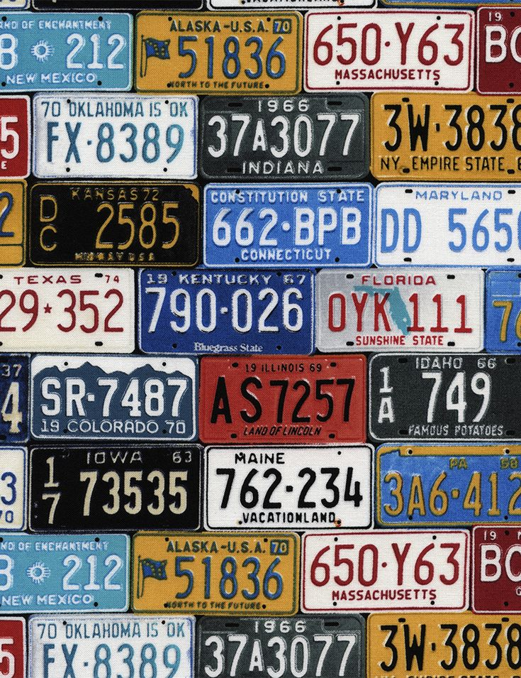 License Plates - Our Fabrics   TIMELESS TREASURES