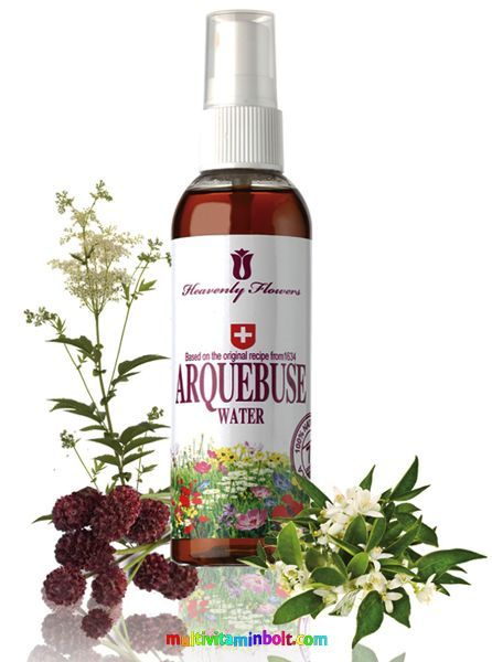 Arquebusade Water Extract (Arsad) 100 ml, 75 gyógynövény kivonat Svájcból, bőrproblémákra - Heavenly Flowers