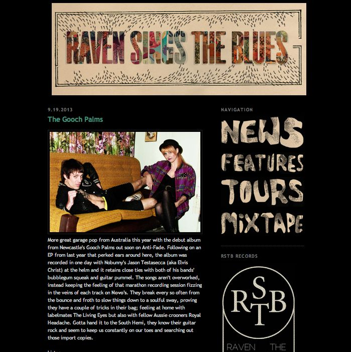 nice lil' review from Raven Sings The Blues