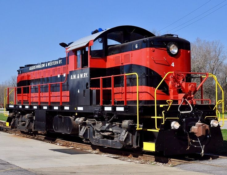 Algers, Winslow & Western Railroad, Alco RS-1 diesel-electric Locomotive in French Lick, Indiana, USA