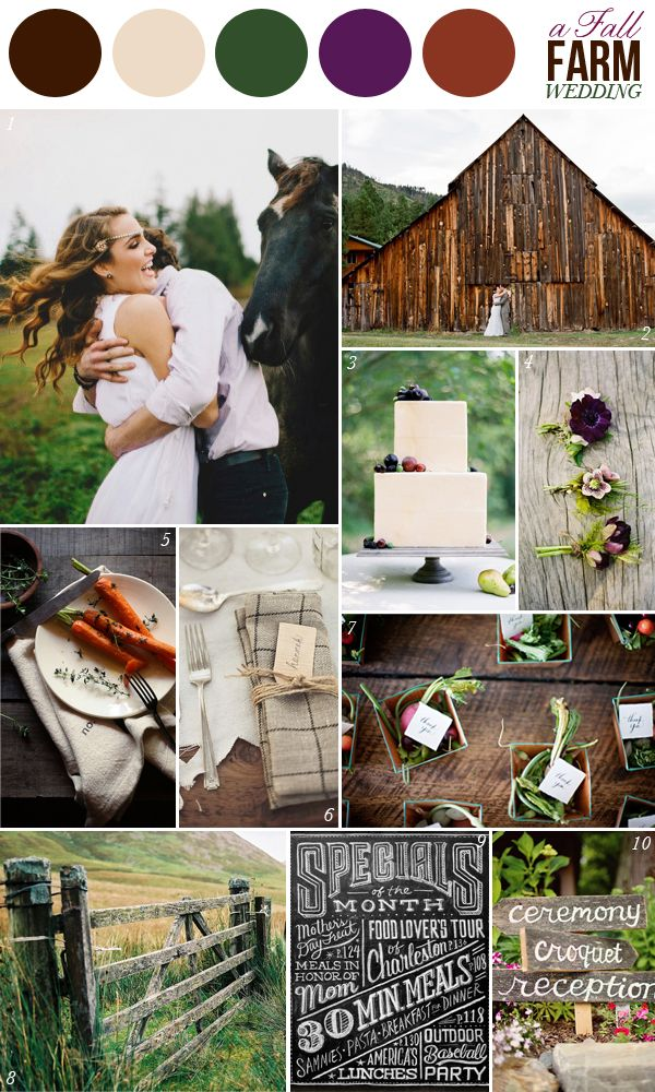 145 best images about wedding colors on pinterest color - Brown and violet combination ...
