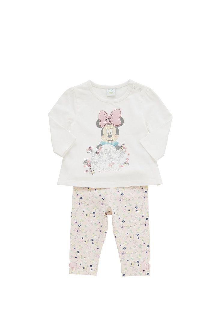 Tesco direct: Disney Minnie Mouse Long Sleeve Top and Floral Print Leggings Set
