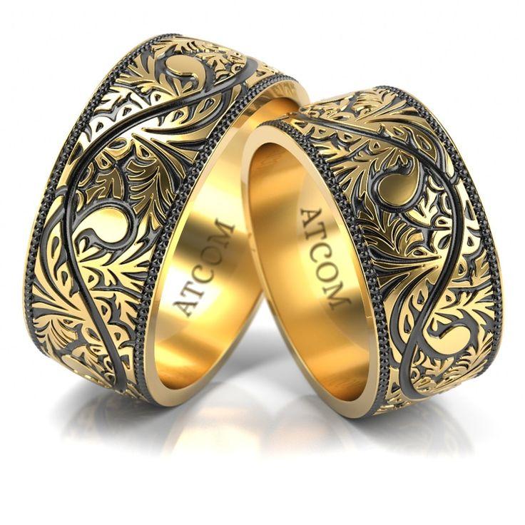 Verighete Lux 3D SPHINX din aur galben
