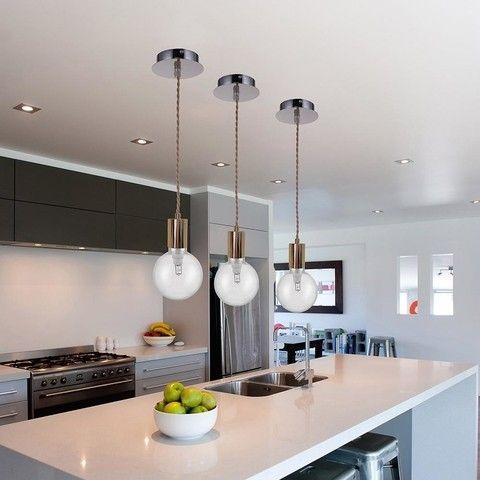 Luminaria pendente de metal e fio de tecido  - 12,5cm diâ - 1 lâmpada soquete E-27 - bivolt - A485 - GOLD, SILVER ou COBRE.