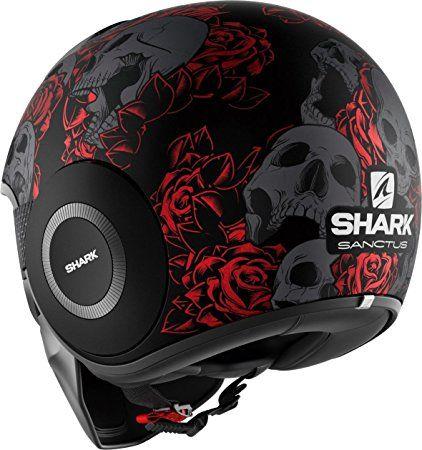 Shark Raw Drak Sanctus Matt Black Red 5