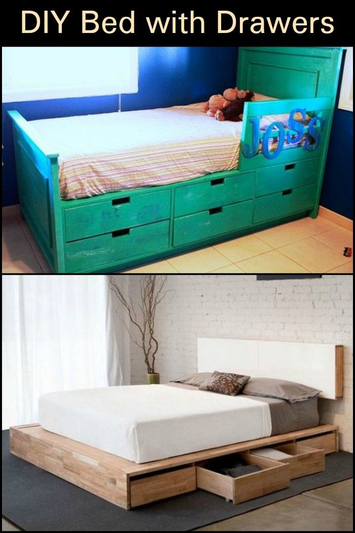 Do It Yourself Bed With Drawers Remodel Bedroom Kids Bedroom