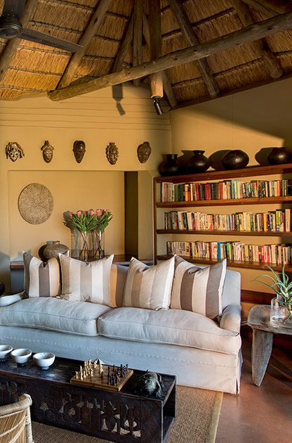 Kopano Lodge Library #MadikweSafariLodge #MOREplaces #LuxurySafari #MalariaFreeSafari #KopanoLodge