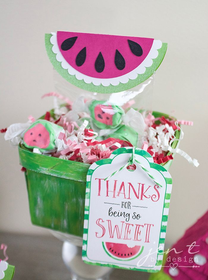 7244e771f Watermelon First Birthday Party with Cricut - Watermelon Party Favors