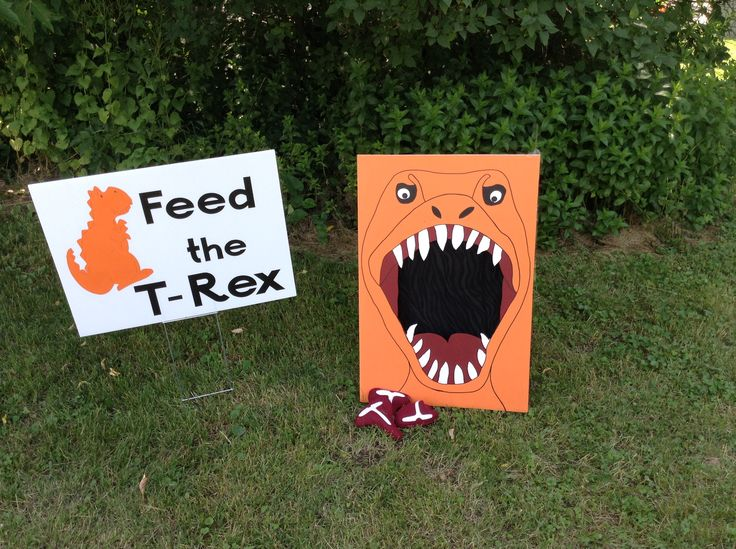 """Dinosaur party game - """"Feed the T Rex"""""""