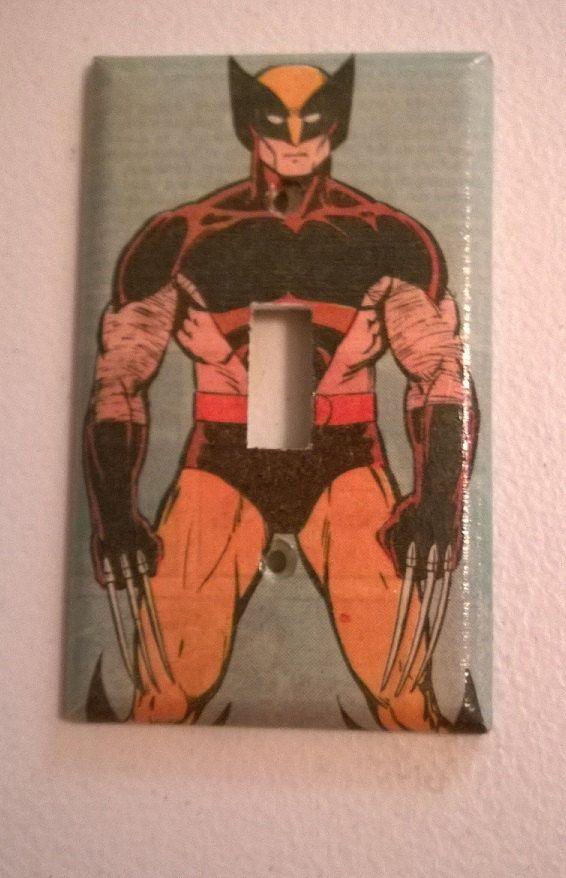 Comic Book Wolverine XMen comic light switch by PastePotPrefects