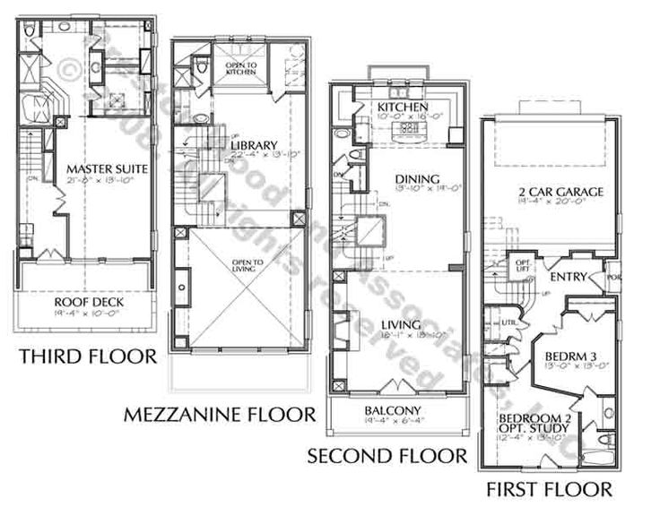 Duplex Townhome Plan C9287 House Plans Pinterest