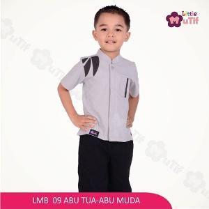 Baju Kemeja Anak Laki Mutif Boy LMB-09 Abu Muda