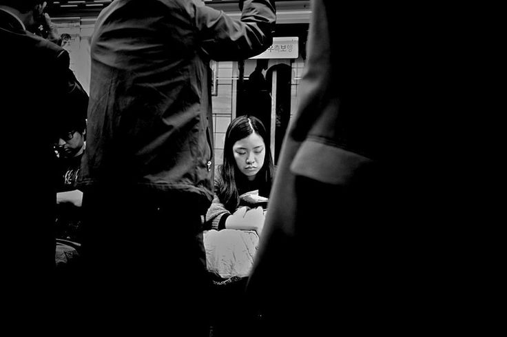 tired lady in subway by Kimhwan SEOULIST