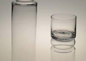 Wazon świecznik szklany przezroczysty tuba h-60
