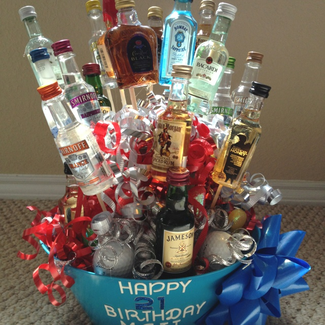 21st Birthday Gift Baskets For Guys