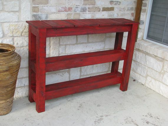 FREE SHIPPINGRustic Red Console Table for by RusticExquisiteDsgn, $365.00