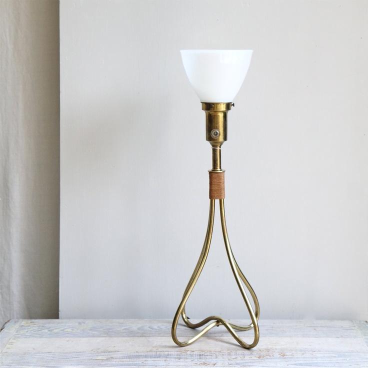 Vintage  Mid Century Modern  Brass Lamp. $145.00, via Etsy.: Mid Century Modern, Vintage Mid, Modern Brass