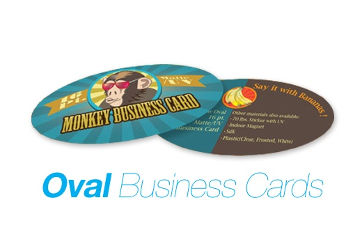 Foiltek Printing  - 16pt Oval Business Cards, $66.00 (http://www.foiltekprinting.com/16pt-oval-business-cards/)