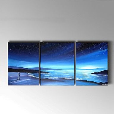 Hand-Painted+Abstract+blue+Seascape+Oil+Painting+For+Home+Decoration+Stretched+Frame+Ready+To+Hang+–+AUD+$+105.91