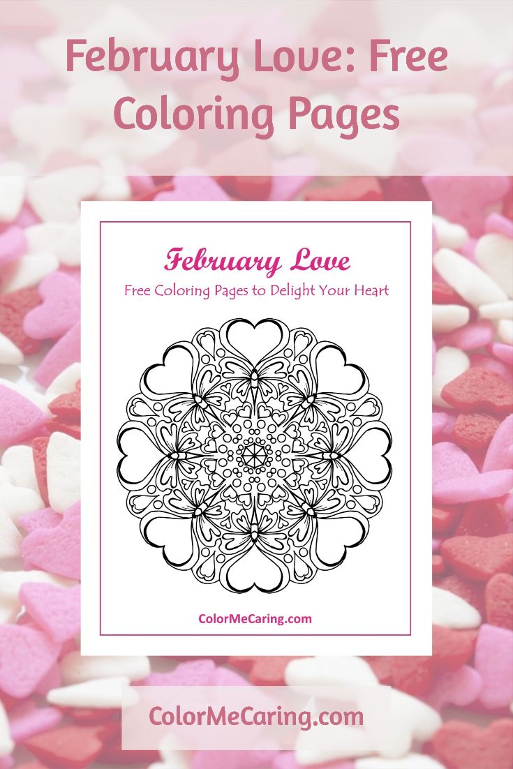 Valentines day mandala coloring pages - Free Love Coloring Pages Valentine S Day Heart Mandalas