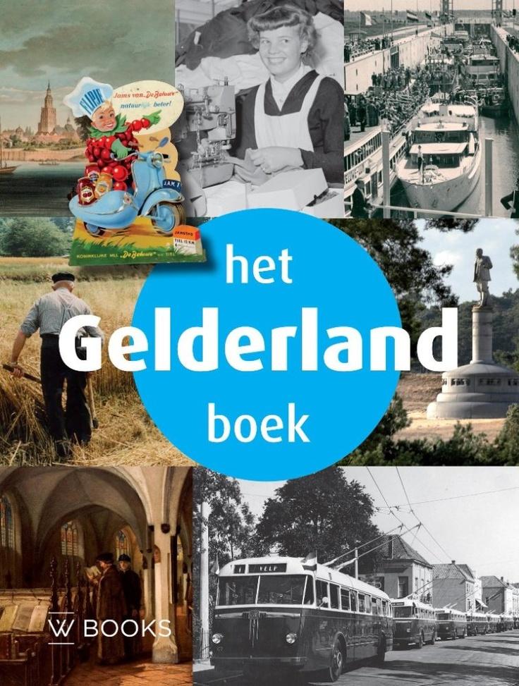 Gelderland is een groene, historierijke en zeer gevarieerde provincie. De uitgestrekte bossen op de Veluwe, de prachtige landgoederen in de Achterhoek en het door water gevormde rivierlandschap van de Betuwe komen aan de orde in Het Gelderland Boek.    Het Gelders Archief en acht Gelderse collega-archiefinstellingen hebben, samen met uitgeverij W-Books, de handen ineen geslagen en Het Gelderland Boek gemaakt.    Het Gelderland Boek. W-Books, 2012. ISBN 9789040006586.