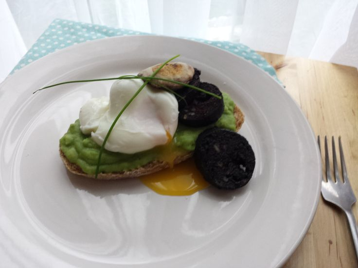 Mean green and a  bit of black pudding