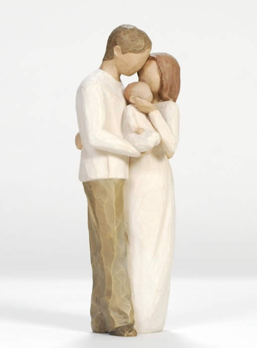 Willow Tree - Our Gift. I want to have a shelf with all these figurines and then professional photos of my family in these poses up above them.