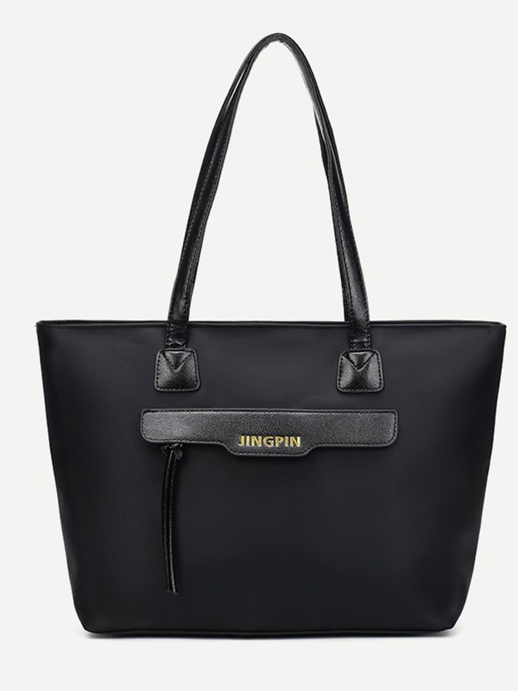 Totes with double handle strap. Perfect choice for Casual wear. Designed in Black.