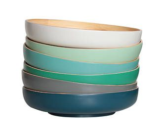 Bamboo Serving Dishes - White, Pale Jade, Dusty Turquoise, Emerald Green, Smoky Grey and Deep Teal - Bamboo Tableware - Homewares - The Dharma Door