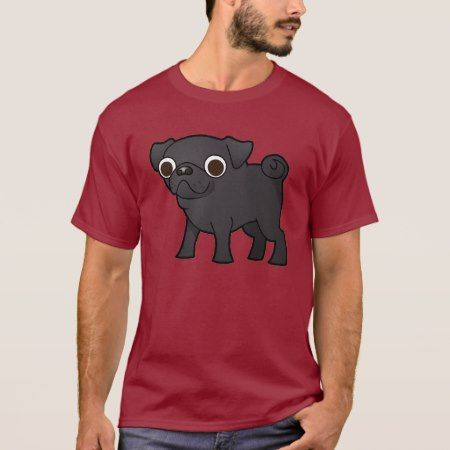 Cartoon Pug (black) T-Shirt - tap, personalize, buy right now!