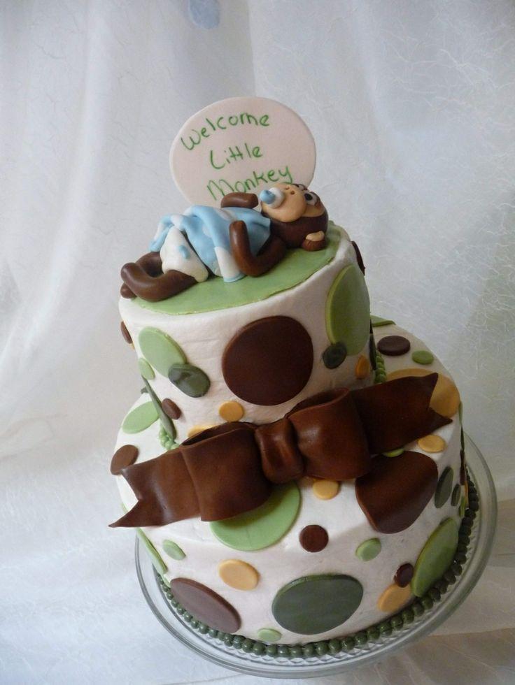 19 best baby shower cakes images on pinterest baby shower cakes cakes baby showers and - Baby shower cakes monkey theme ...