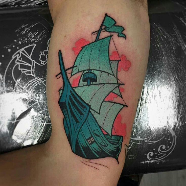 Tattoo done by: Gennaro Varriale #barco #tattoo #tatuaje #blue