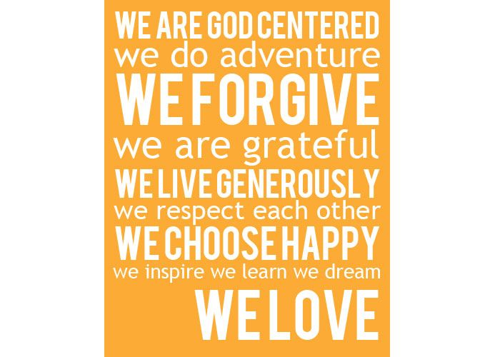 Awesome Family Mission Statement! We Love… » Table For Five