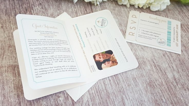 Travel Wedding Invite ◦ Passport Wedding Invitation ◦ Destination Wedding Invitation