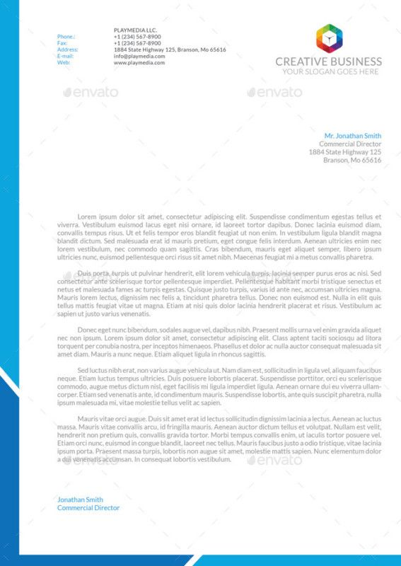 11 Best Corporate Letterhead Template Word, Psd, Ai And Eps Format