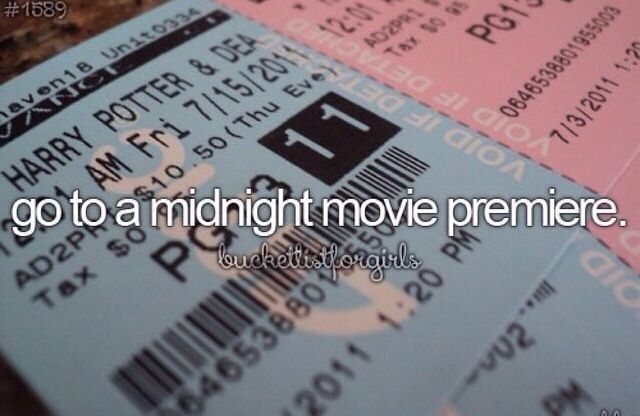 Go to a movie premiere