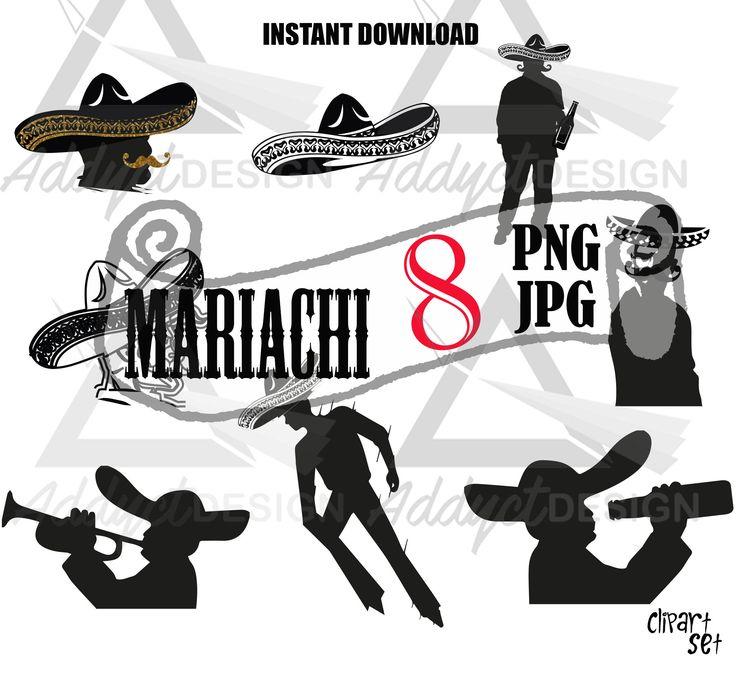 Un favorito personal de mi tienda de Etsy https://www.etsy.com/mx/listing/541744297/mariachi-fiesta-mexicana-clipart