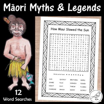 A fabulous resource to have in New Zealand classrooms when studying Māori Myths and Legends. Great for a follow-up activity after reading the story, or to have as an early-finisher task. 12 word searches. Eleven of the word searches have a Māori themed border