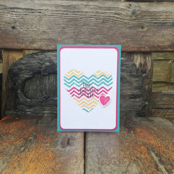 Fabulous Work of Art Valentine's Card Rainbow Colourful