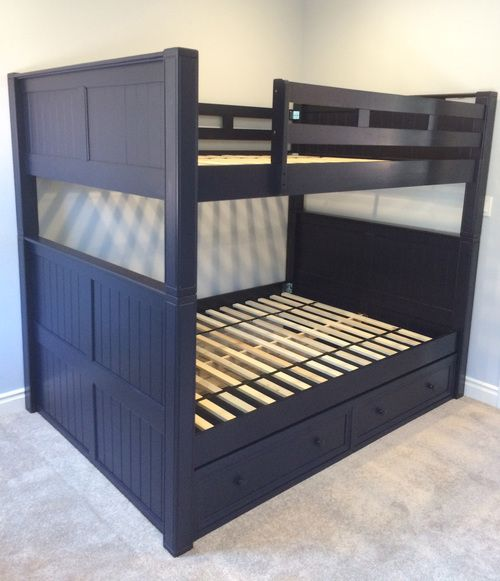 dillon black full over full bunk bed