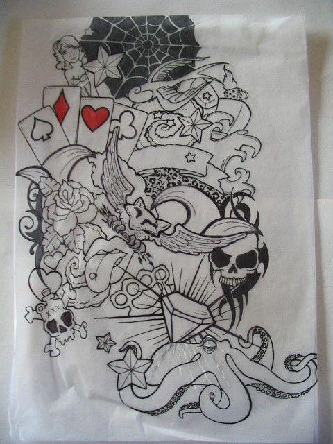 Skull half sleeve tattoo designs half sleeve tattoo1 by for Half sleeve tattoo sketches