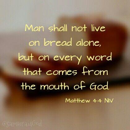 Matthew 4:4 NIV | { God is goooooddd } | Pinterest